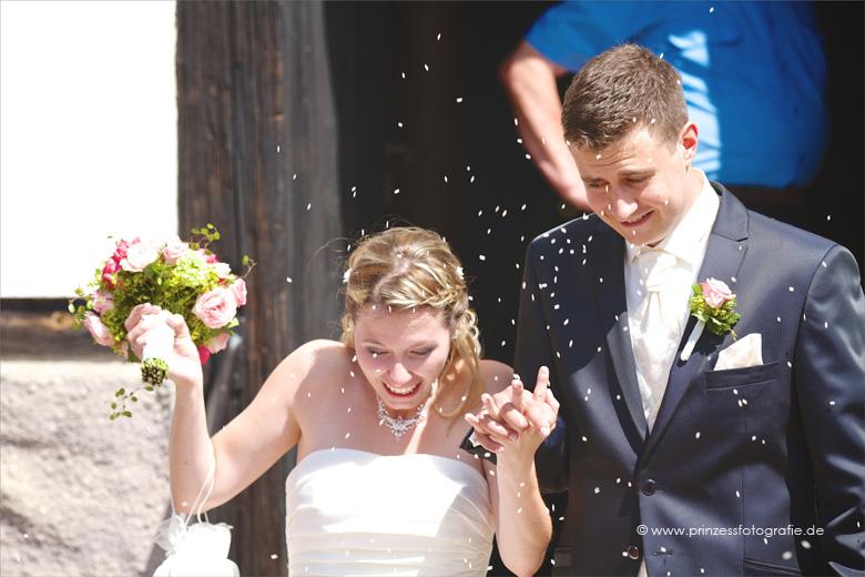 Reiswerfen Hochzeit