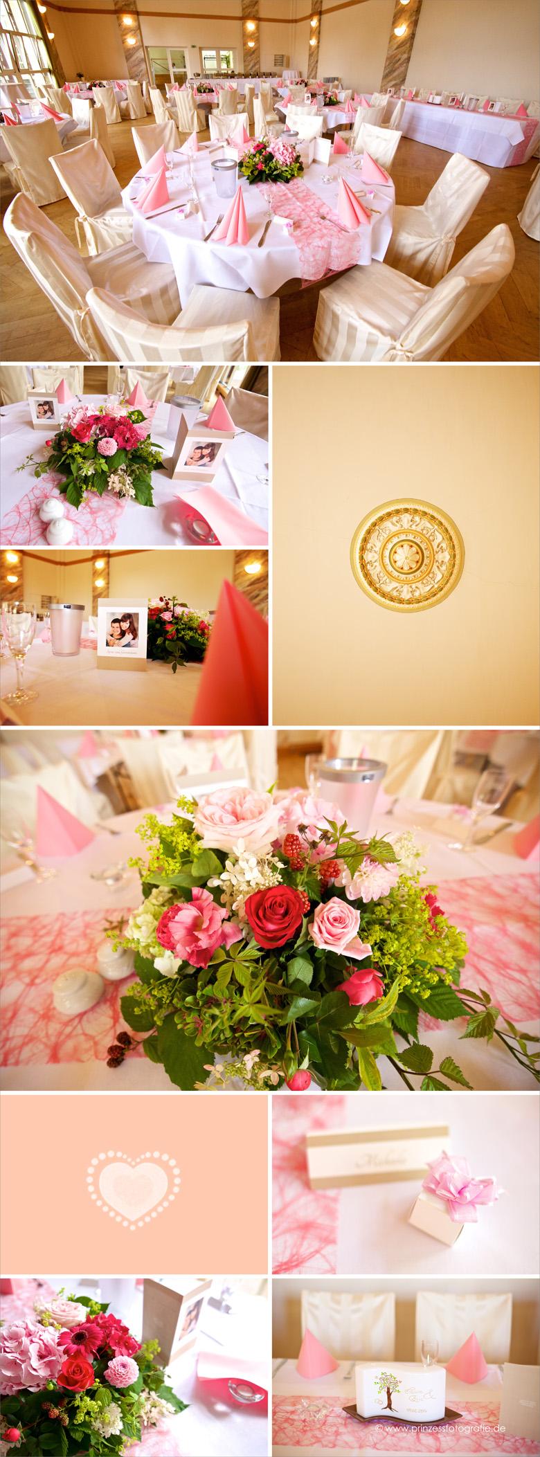 Hochzeitsdekoration pink